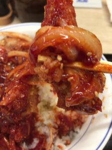 赤辛カツ丼を食す