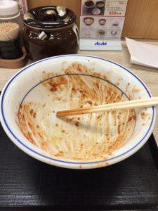 赤辛カツ丼完食